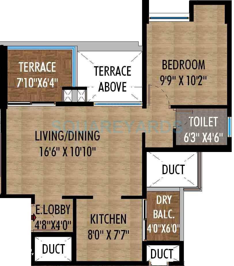 saarrthi skybay apartment 1bhk 664sqft 10152