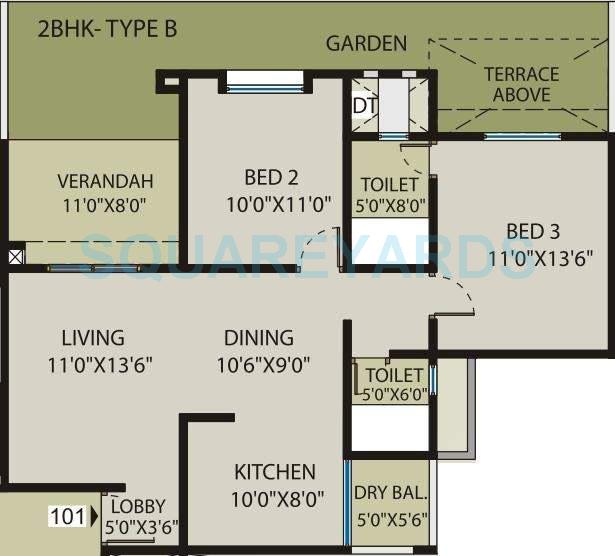 saarrthi souvenir apartment 2bhk 1192sqft 10635