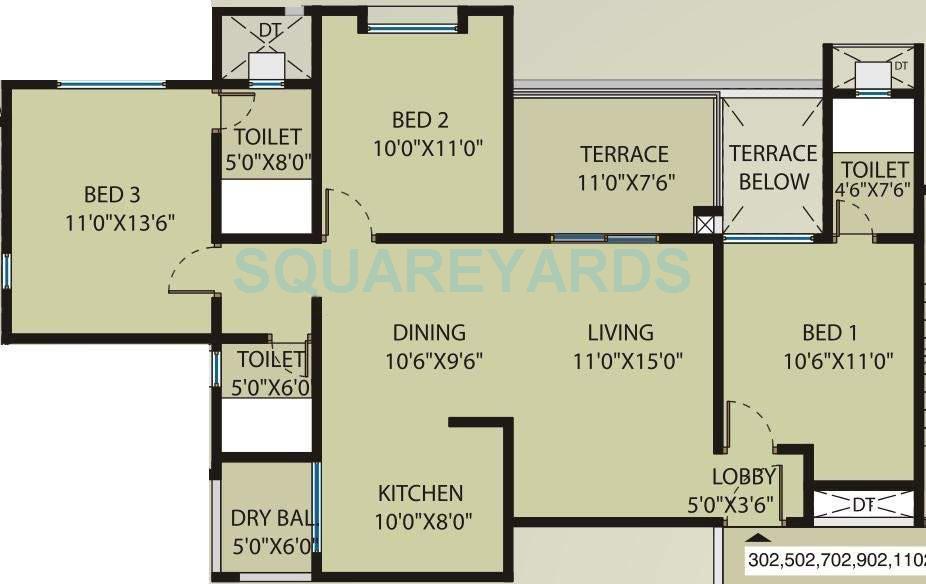 saarrthi souvenir apartment 3bhk 1316sqft 10636