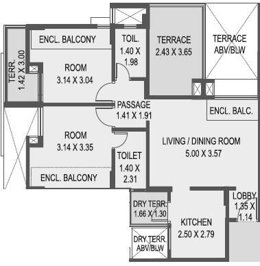 saarrthi stanza apartment 2bhk 996sqft 81