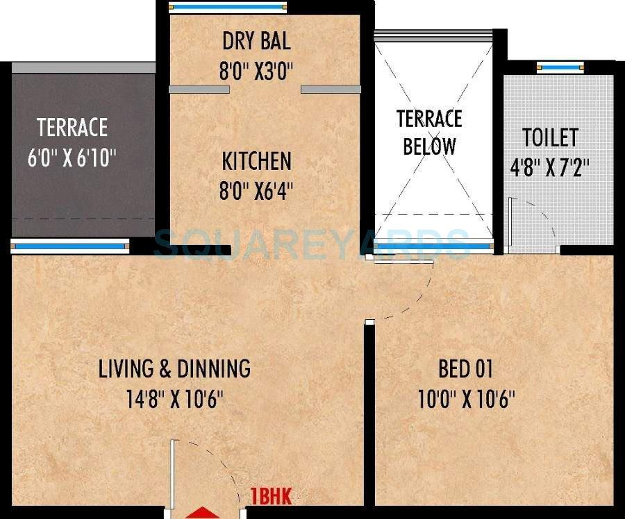 saarrthi suburbia apartment 1bhk 556sqft 9701