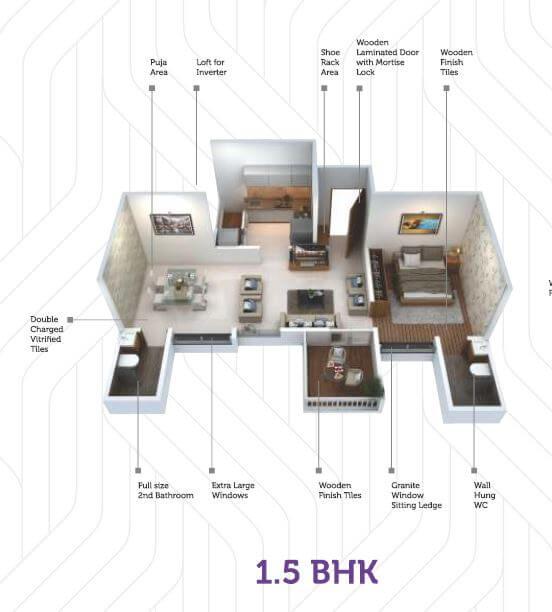 saheel itrend life apartment 1bhk 535sqft 1
