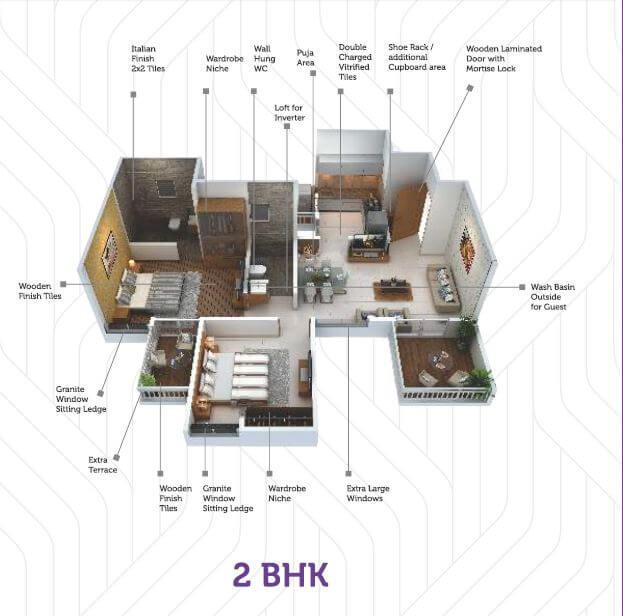 saheel itrend life apartment 2bhk 746sqft 1