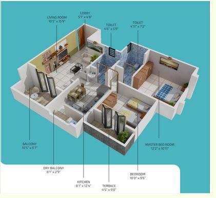 samarth florencia building a apartment 2bhk 623sqft 1