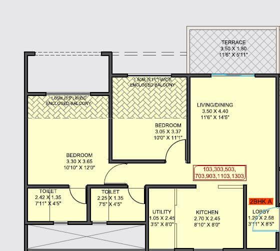 samartha 41 estera phase 3 apartment 2bhk 589sqft 1