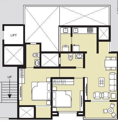 samartha 41 estera phase 3 apartment 2bhk 699sqft 1