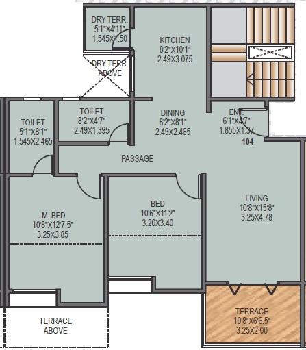 sancheti dreamcastle apartment 2bhk 837sqft 1