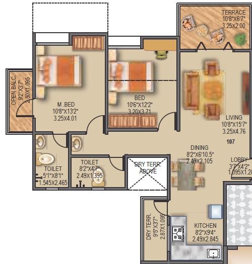 sancheti dreamcastle apartment 2bhk 897sqft 1