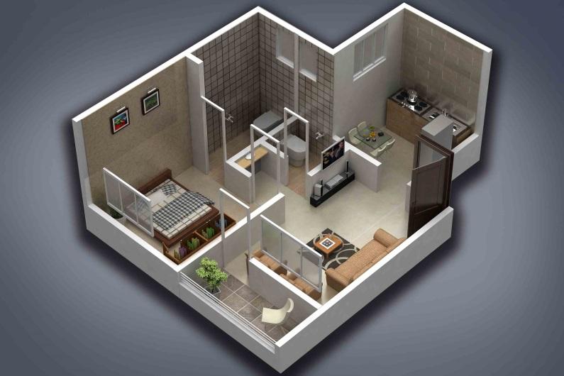 satyam shivam phase 2 apartment 1bhk 383sqft 1