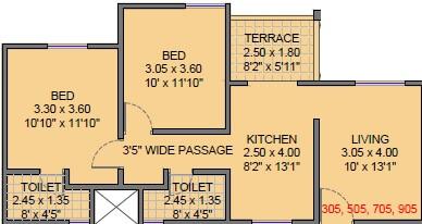 shanti elixir apartment 2bhk 657sqft 1