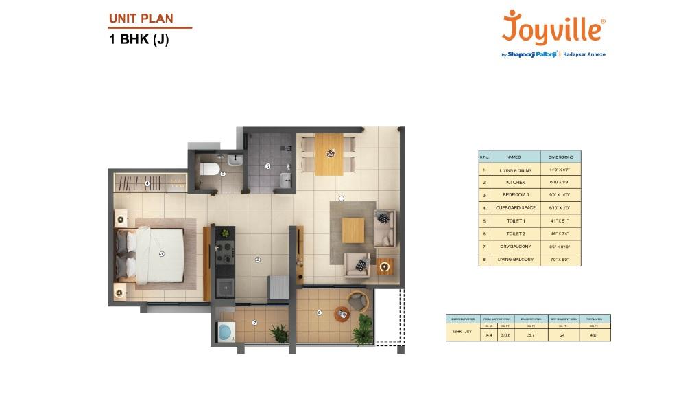 shapoorji pallonji joyville hadapsar annexe  apartment 1 bhk 430sqft 20201903101901