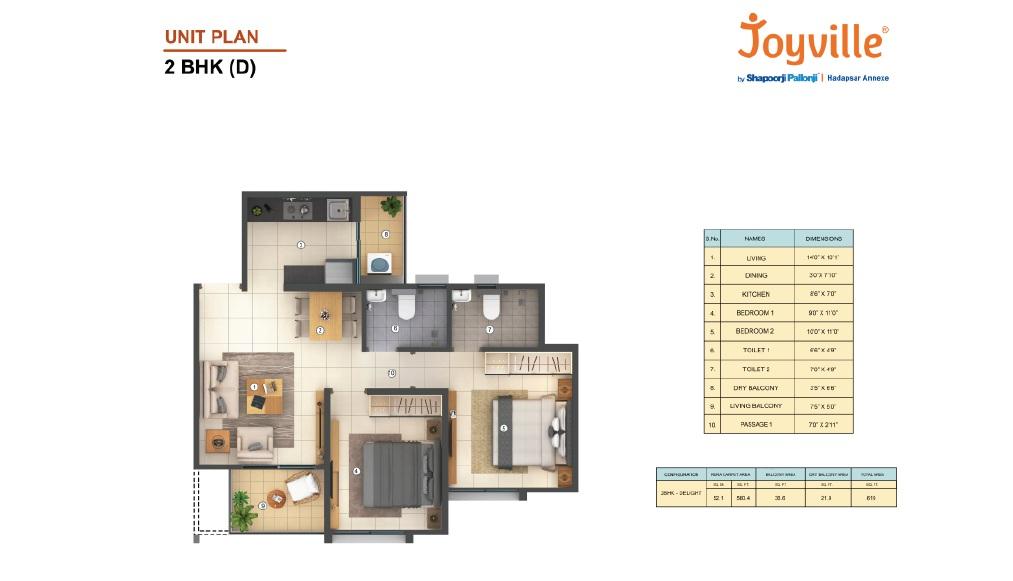 shapoorji pallonji joyville hadapsar annexe  apartment 2 bhk 619sqft 20202003102012