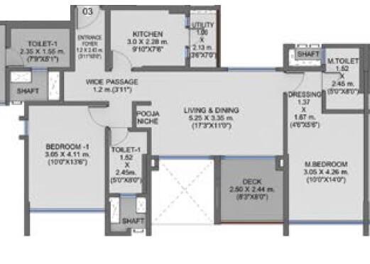 shapoorji pallonji residency apartment 2bhk 891sqft 1