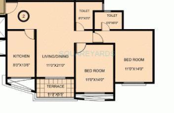 sheth konark exotica apartment 2bhk 1120sqft1