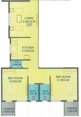 shree samarth radhika regency apartment 2 bhk 882sqft 20210019130024