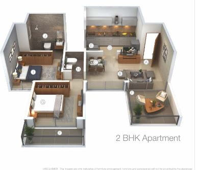 shree sonigara signature park apartment 2bhk 718sqft 1