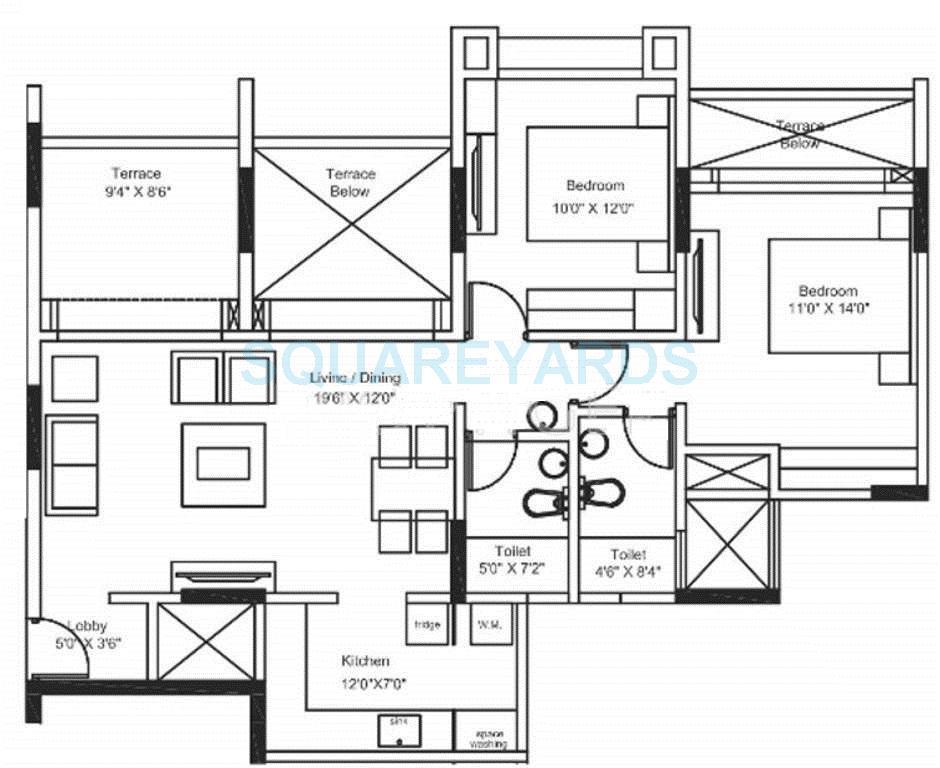 shriram properties 10 vrindavan apartment 2bhk 1049sqft1
