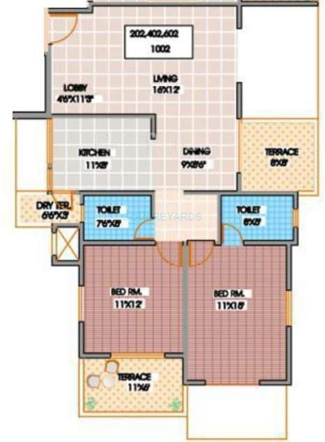 shroff serenade apartment 2bhk 850sqft 11836