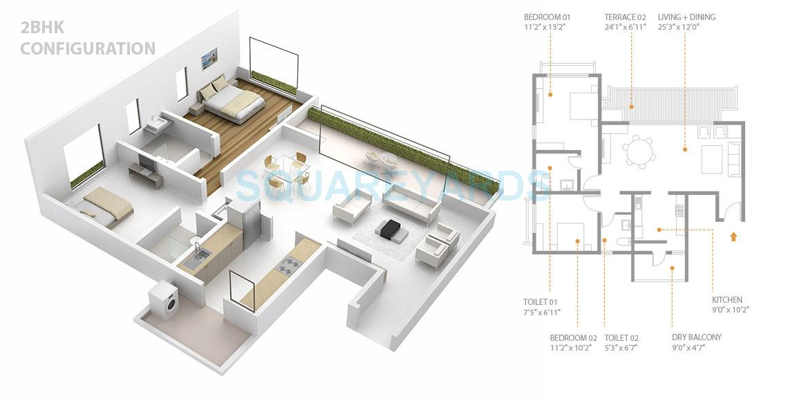 skyi songbirds apartment 2bhk 1303sqft 1