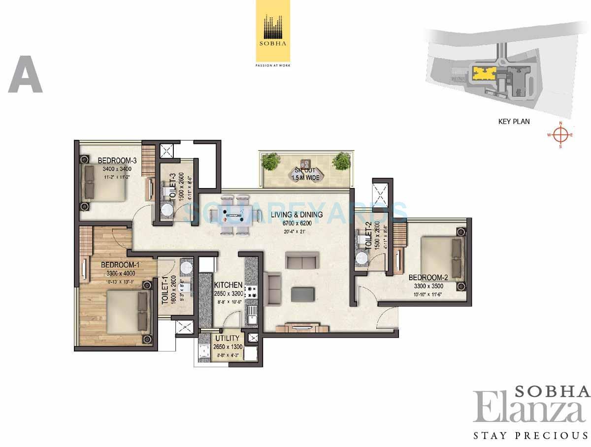 sobha elanza apartment 3bhk 1755sqft 1