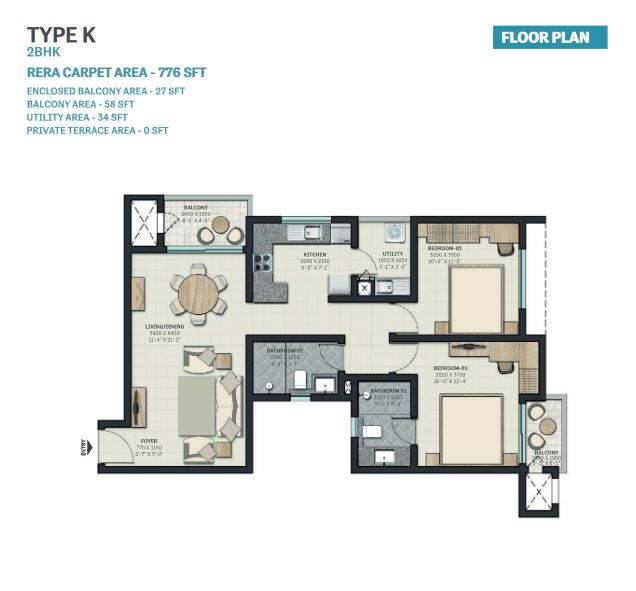 sobha nesara block 1 apartment 2bhk 776sqft41