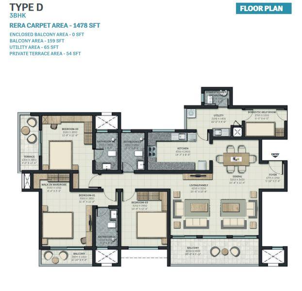sobha nesara block 2 apartment 3bhk 1478sqft41