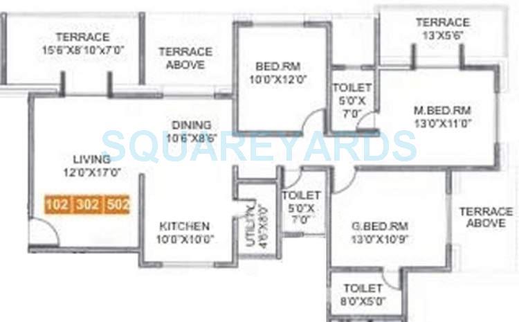 sukhwani elmwoods apartment 3bhk 1475sqft 10759