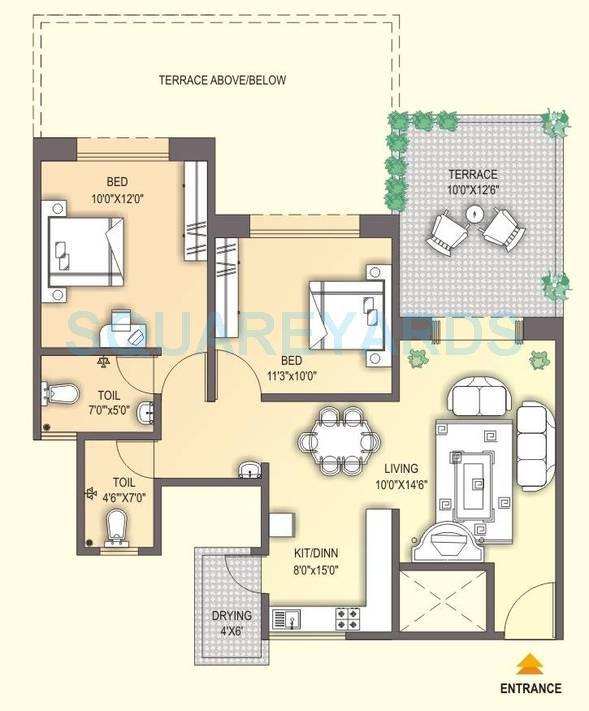 sukhwani gulmohar garden apartment 2bhk 1100sqft 1