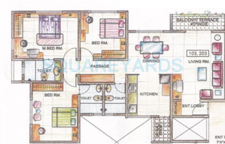 sukhwani oasis apartment 3bhk 1378sqft 1
