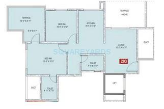 sukhwani palm breeze apartment 2bhk 910sqft1