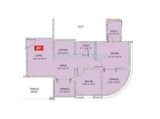 sukhwani palm breeze apartment 2bhk 950sqft1
