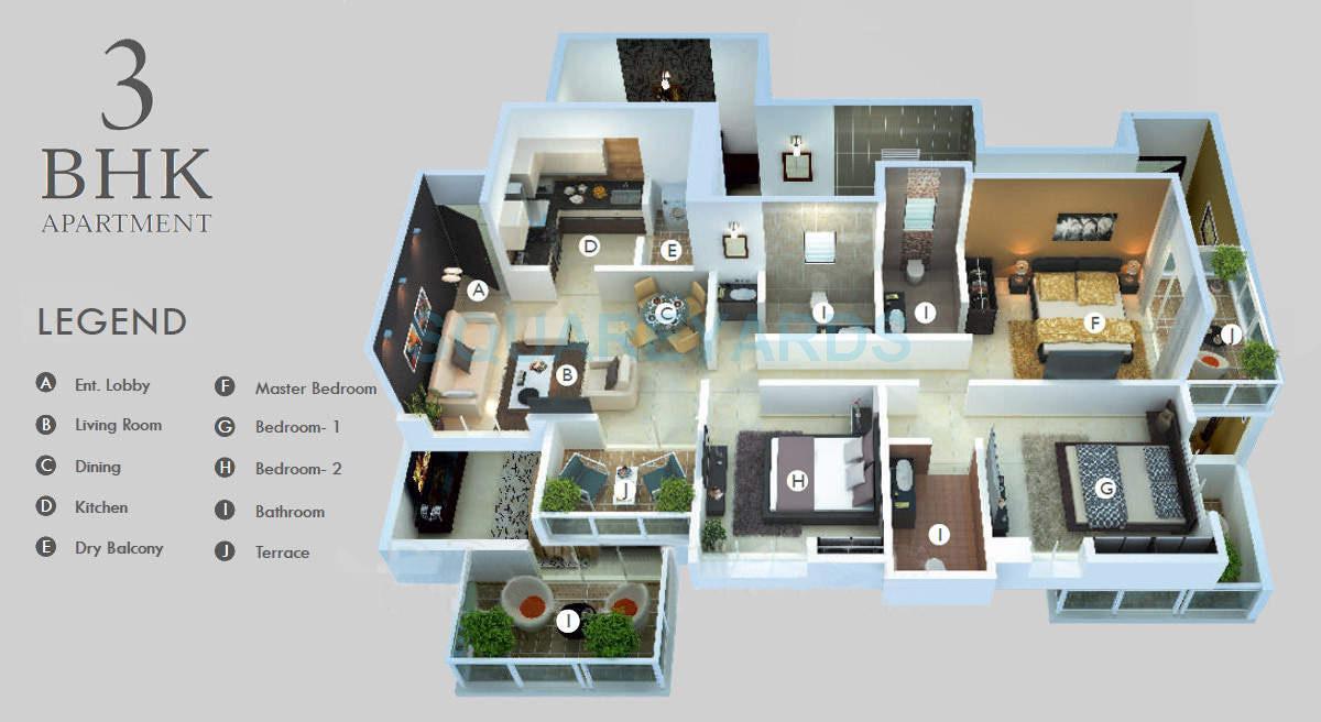 sukhwani scarlet apartment 3bhk 1393sqft 9858