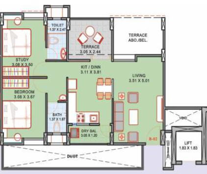 2 Bhk 600 Sq Ft Apartment For Sale In Suyog Aura Phase 2 At Rs 81 53 L Pune