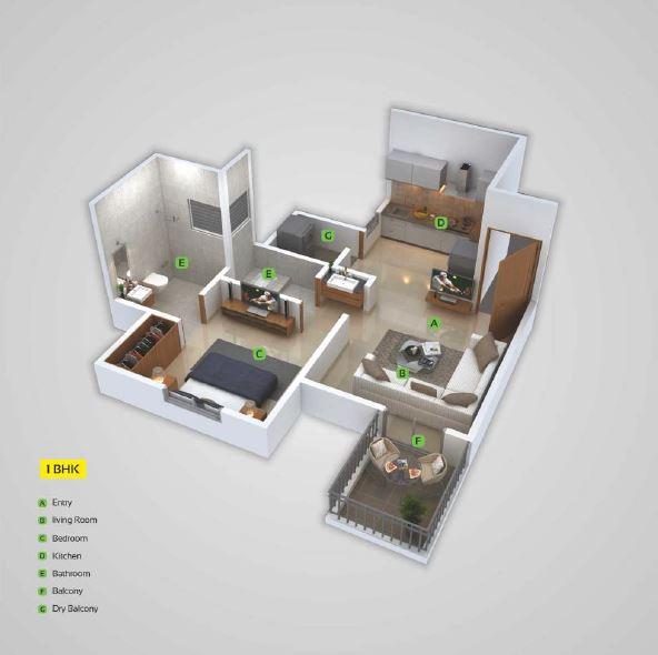 urbania mangalam apartment 1bhk 433sqft 01