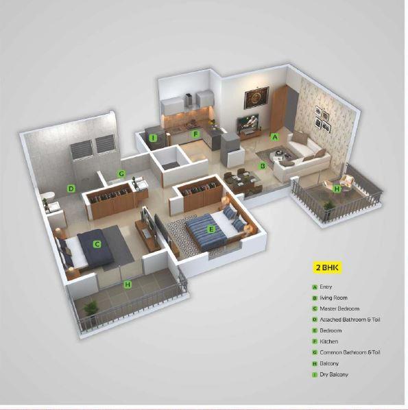 urbania mangalam apartment 2bhk 694sqft 31