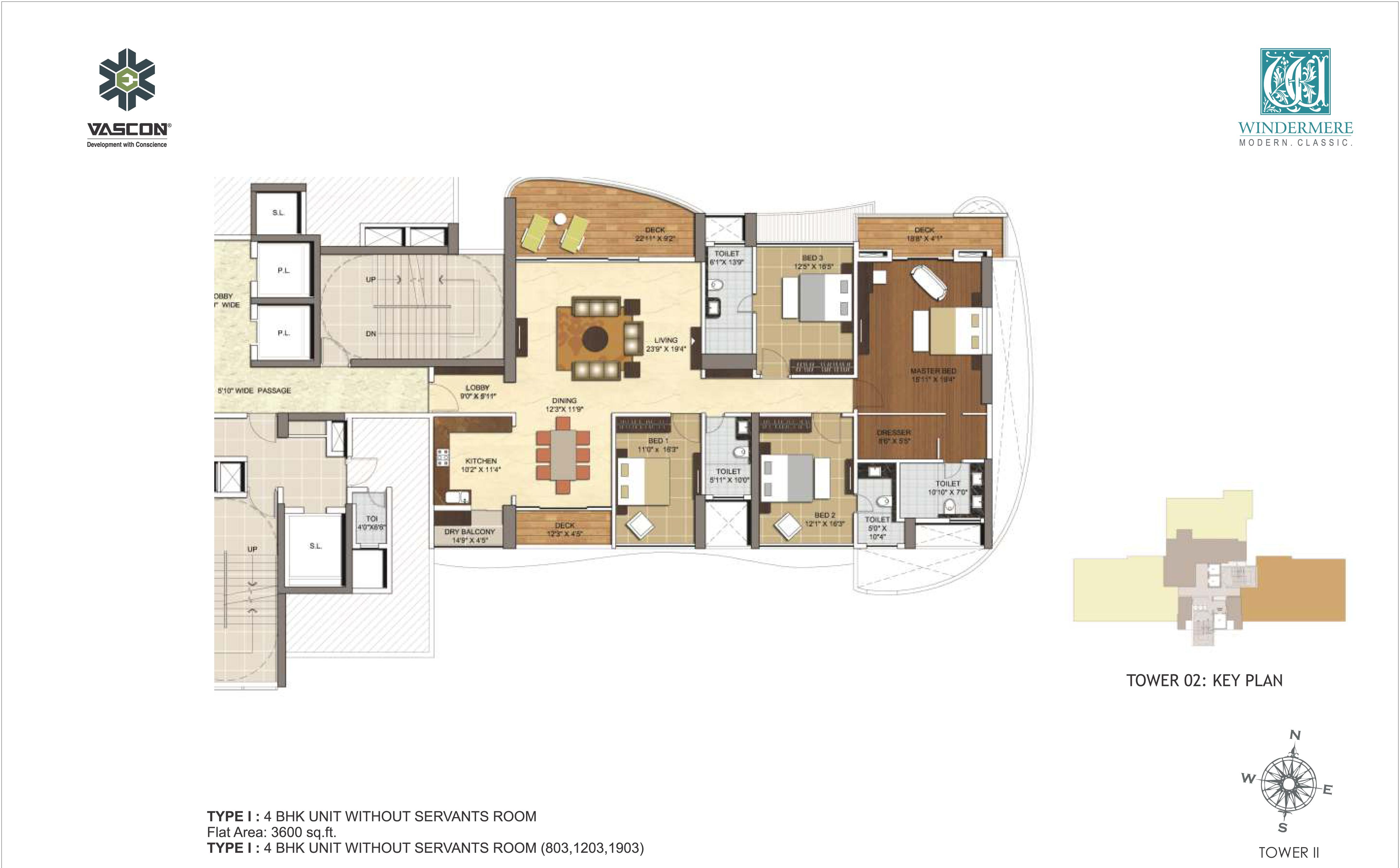 vascon windermere apartment 4bhk 3600sqft1