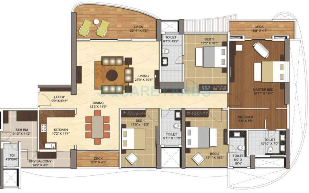 vascon windermere apartment 4bhk 3800sqft 10122