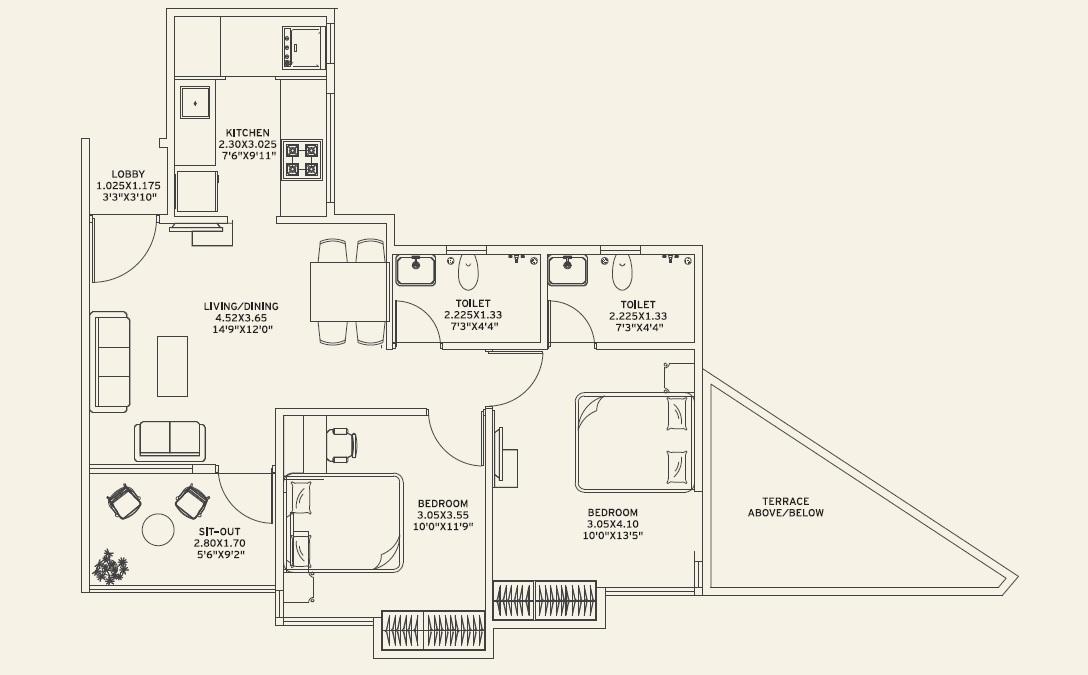 vilas javdekar yashwin royal apartment 2bhk 838sqft 1