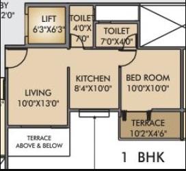 vrindavan barsana dham apartment 1 bhk 450sqft 20214117134127