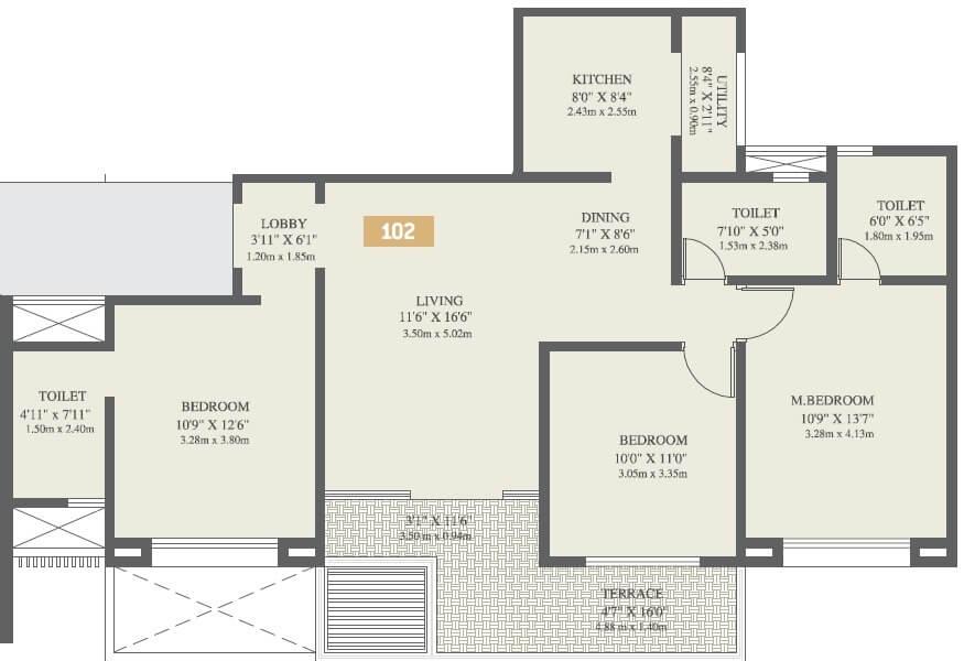 vtp solitaire apartment 3bhk 1017sqft 1