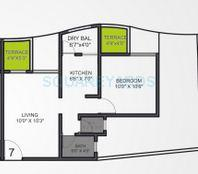 vtp urban life apartment 1bhk 610sqft 1