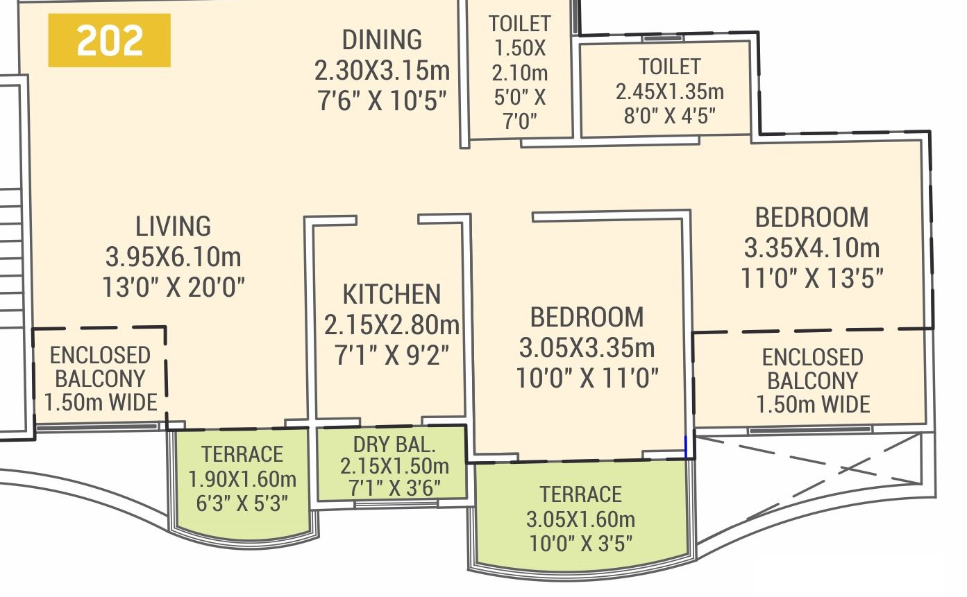 vtp urban life apartment 2 bhk 1000sqft 20213303163332