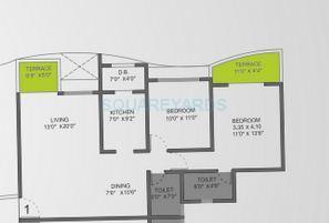 vtp urban life apartment 2bhk 1181sqft 1