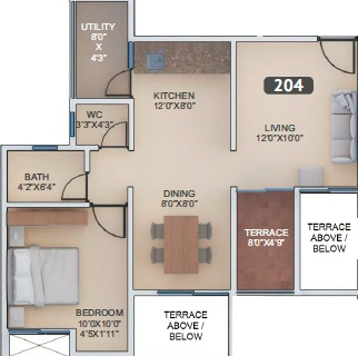 vtp urban nest apartment 1bhk 697sqft 1