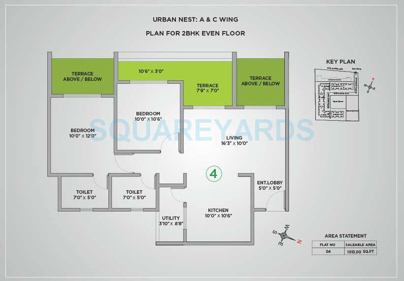 vtp urban nest apartment 2bhk 1013sqft 1