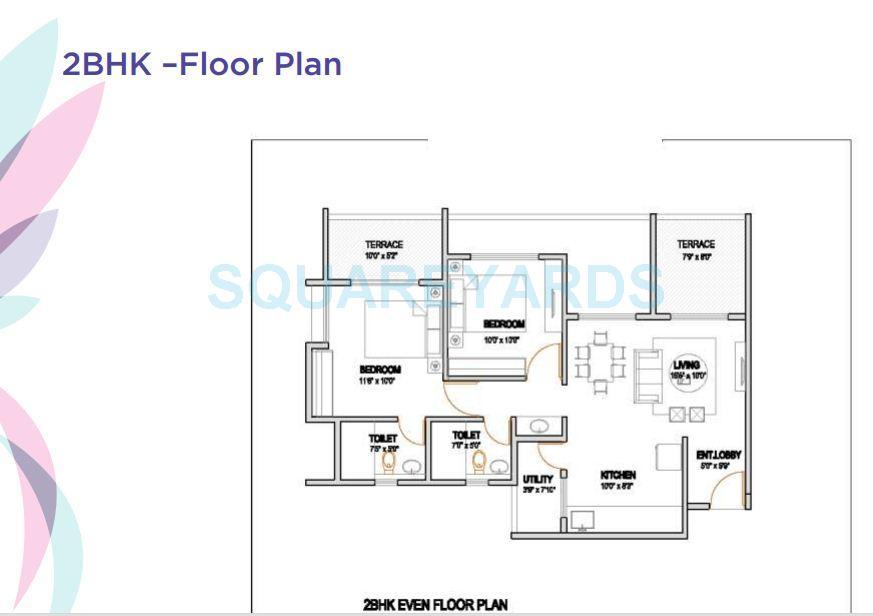 vtp urban rise apartment 2bhk 983sqft 1