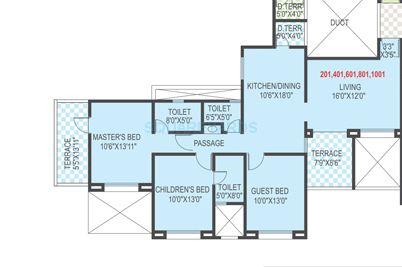 welworth tinsel town apartment 3bhk 1511sqft 1