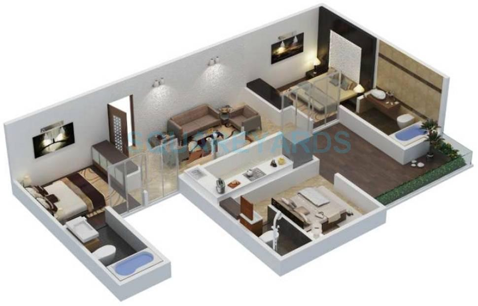 3 bhk 1200 sq ft apartment for sale in xrbia abode at rs 3300 0 sq