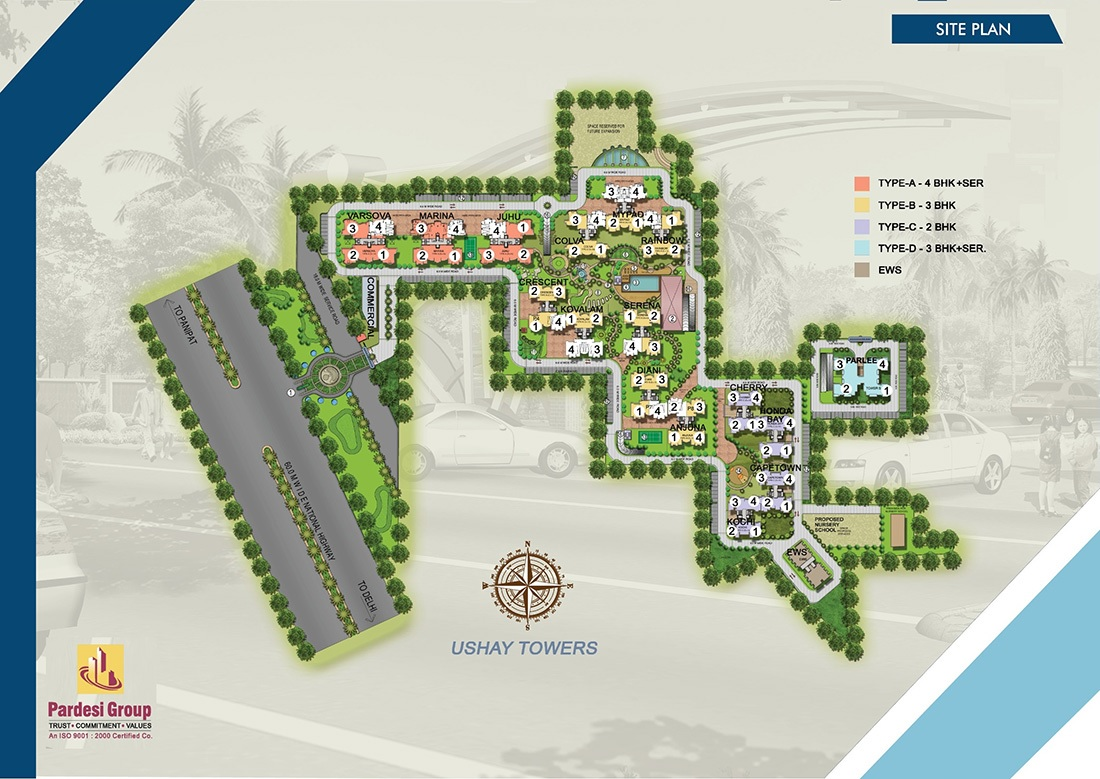 pardesi ushay tower project master plan image1
