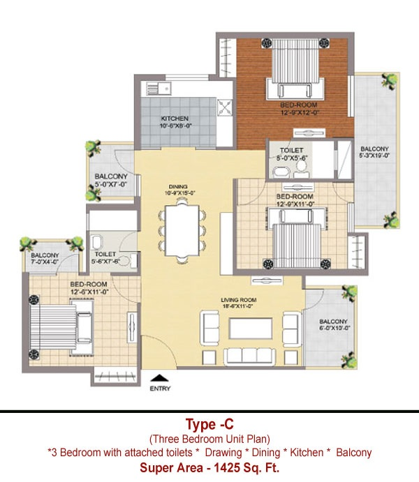 maxhights metroview apartment 3 bhk 1425sqft 20214523094524